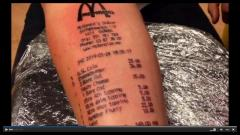 Norwegian teen gets tattoo of McDonald's receipt showing what he ordered on Tuesday