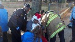 Black Santa Claus shot in back with pellet gun at DC toy giveaway