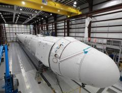 Private rocket assembled for space launch