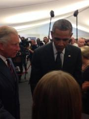 President Obama drops by Prince Charles' NATO Summit reception in Wales