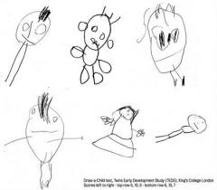A child's early drawings might predict intelligence later on