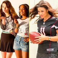 Miranda Cosgrove, Jordin Sparks star in NFL Women Apparel ad