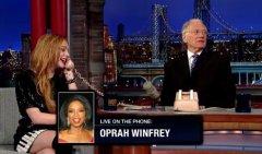 Lindsay Lohan and David Letterman prank call Oprah