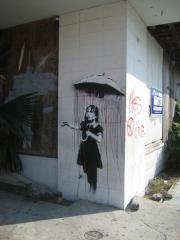 Banksy wall mural survives attempted theft