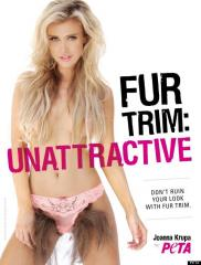 PETA poster equates pubic hair with fur