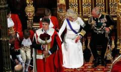 Queen Elizabeth's page boy faints during speech to Parliament