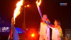 Olympic cauldron in Sochi lit by Russian greats