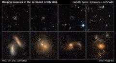 Rate of merges between galaxies studied