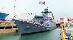 South Korean shipyard launches new frigate