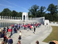 Veterans storm WWII memorial closed because of the shutdown
