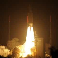 European space freighter heads to ISS