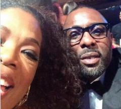 Oprah Winfrey's first selfie is an Idris Elba photobomb
