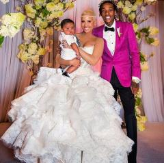 See Amber Rose's wedding dress; finally revealed on anniversary