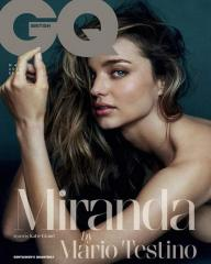 Miranda Kerr poses nude for GQ, says 'never say never' about dating women