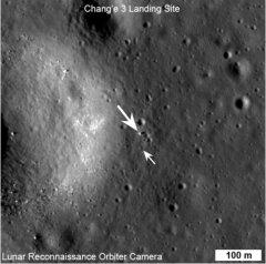 NASA moon orbiter snaps photo of Chinese rover and its lander