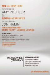 Amy Poehler and Jon Hamm throw party for Emmy losers