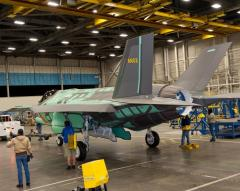 First Australian-made vertical tails fitted onto F-35