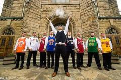 Ohio groomsmen rock LeBron James Cavs jerseys in slam dunk of wedding photo