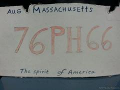 State police pull over driver with cardboard license plate