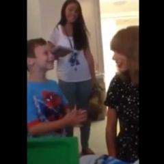 Taylor Swift surprises 6-year-old leukemia patient in viral video