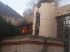 Nigeria's soccer headquarters goes up in smoke