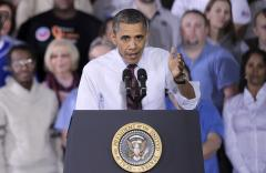Obama touts fiscal cliff plan at plant