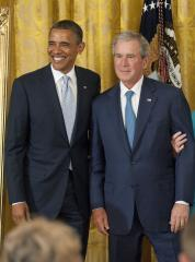 George W. Bush has higher favorability than Barack Obama