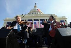 Inaugural quartet was prerecorded