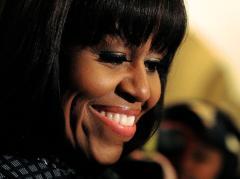 Michelle Obama at funeral for slain girl