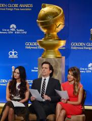 Golden Globes' red carpet floods hours before event