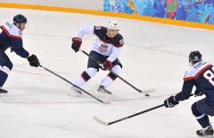 U.S. men's Olympic hockey team crush Slovakia 7-1