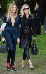 Kate Moss, Cara Delevingne spotted at London Fashion Week