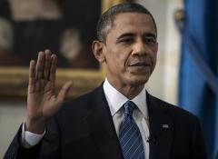 Obamas attend inaugural gala