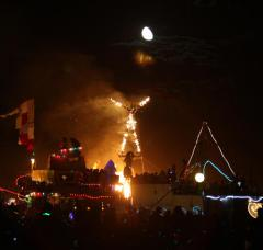 Woman killed when hit by bus at Burning Man