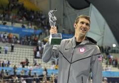 Phelps wins in final Olympic appearance