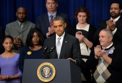 Obama: 'We're not going back' on healthcare reform