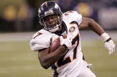 Broncos tailback Moreno out with injury