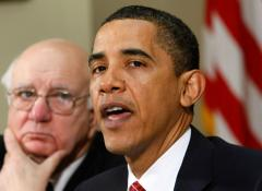 Volcker pushes for separate banks
