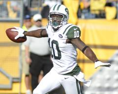 Jets' Santonio Holmes out with foot injury