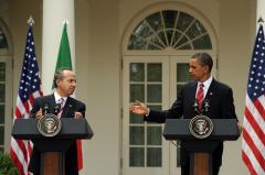 Calderon, Obama talk immigration