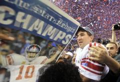 NFL: New York Giants 21, New England 17