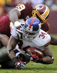 NFL: N.Y. Giants 23, Washington 7