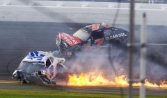 28 fans injured in fiery Daytona crash