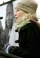 Mia Farrow touring Gaza