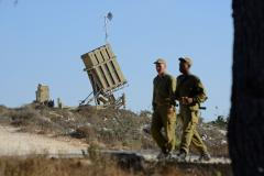 Israel intercepts rockets in evening attack