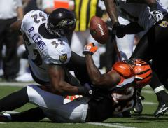 NFL: Baltimore 17, Cincinnati 10