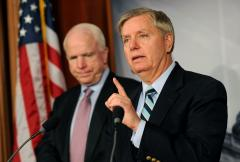 McCain, Graham appear to support Obama on Syria