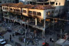 Israeli airstrikes topple Gaza high-rises