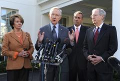 Leaders say fiscal cliff talks good start
