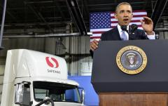 Obama announces new fuel standards for medium, heavy trucks